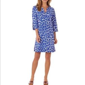 Jude Connolly Cobalt Leopard Print Tunic Dress